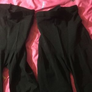 Assets® by Spanx Pants - 2-Pack Women's Black Ponte Shaping Leggings